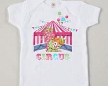 Circus Clown Shirt Custom Size Pink Retro Baby Big Top Vintage Girl