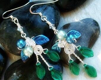 Art Nouveau Earrings Rivendell Spring Elven Forest