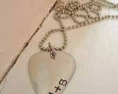 Personalized Distressed Guitar Pick Necklace