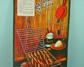 Vintage teatowel sardines grillee