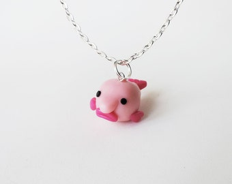 Blobby the Blobfish Charm Necklace