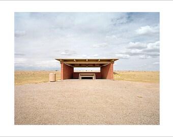 Original Fine Art Photograph / Print / Photography, Mid Century Modern, Landscape, Vintage, Road Trip, Americana Desert Minimalist Film