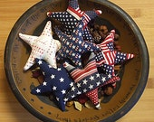 Patriotic Americana Star Bowl Filler Ornament Decorations