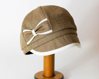Womens Hat Womens Tweed Hat Newsboy Cap - Mamie Hat