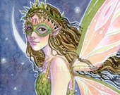 Fairy Art Print - ACEO Mini Small Print - Motherhood Moon Crest