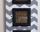 Three Verse Of The Week Chevron Frame - Grey & white - Scripture Memory - Bible Verse