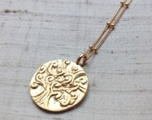 Gold Over Bronze Tree of Life Pendant