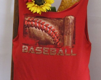 Reusable/Recycled Market/Tote Bag Baseball Handmade by FashionGreenTBags