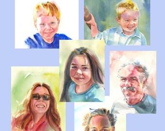 How to Paint Watercolor Portraits - Watercolor Tutorial - Intermediate Painting Lesson - Kathy Jurek
