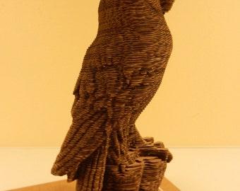 WEEK 06-14 Coragated cardboard contoured owl KIT