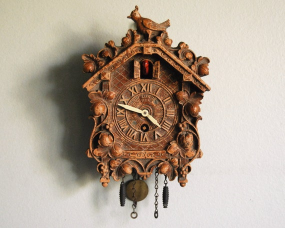 1930s Cuckoo Clock Miniature Lux Pendulette With By