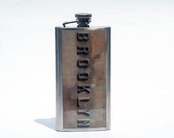 HIP FLASK - Brooklyn Flask - 5 oz Flask