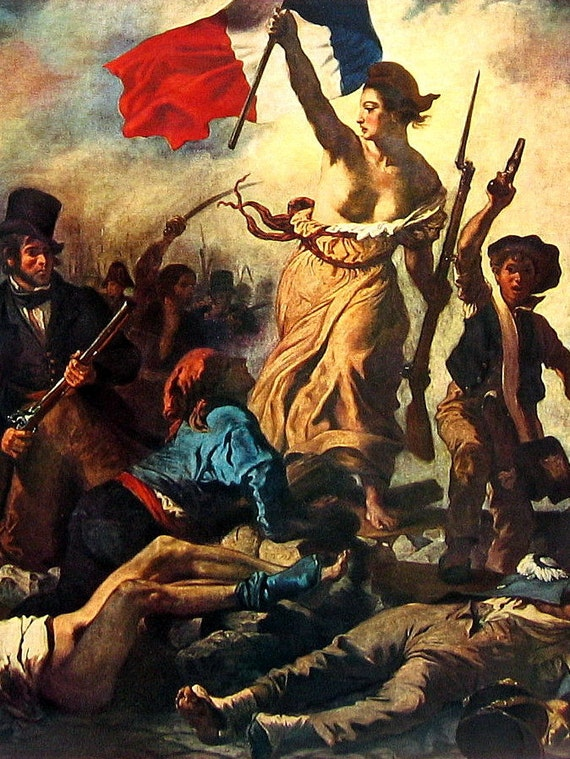 Liberty Leading the People by Delacroix Mature Content Fine