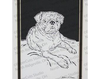 Pug Papercutting- Handcut Original