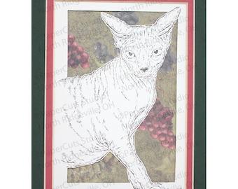 Spyhnx Cat Papercutting- Handcut Original