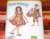 UNCUT Simplicity 2466 Pattern - Girls Dress or Top, Capris & Purse - Daisy Kingdom