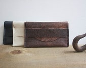 Salvaged Leather Business Card Holder / Leather Wallet / Leather Card Holder / Mens Wallet / Womens Wallet
