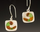 Sea Glass Earrings, Sea Glass Jewelry, Wave Earrings - Sea Glass Collection