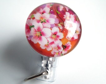 ID Badge Reel Cherry Blossoms on Retractable Badge Holder 72