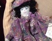 SALE--SALE Original Sha Bebe Cloth Doll Made by Cajun Doll Artist, Mary Lynn Plaisance in  Louisiana. Art doll collectibles ~!!!