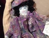 VENTE - vente Original Sha Bebe poupée de chiffon faite par l'artiste Cajun, Mary Lynn Plaisance en Louisiane. Objets de collection art doll ~!!!