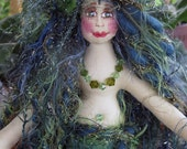 ON SALE: Sparkly deep sea fiber sculpted mermaid wall accent