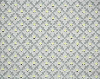 1950's Vintage Wallpaper - Gray and Yellow Geometric