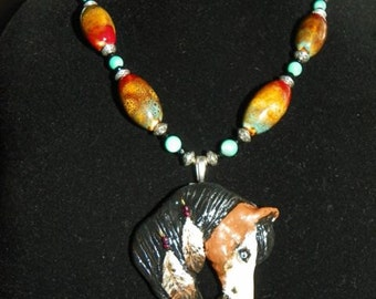 Indian Pony Horse, Necklace Pendant