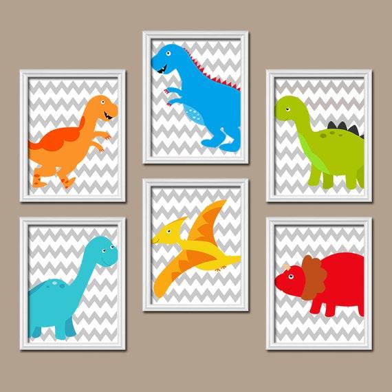 Dinosaur Wall Art Baby Boy Nursery Artwork Big Boy By Trmdesign
