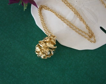 Gold Pinecone Necklace, Gold, Real PineCones, Gold Pine Cones, Redwood, PC23