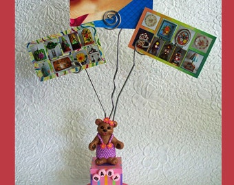 Baby Girl Block Wire Photo Holder