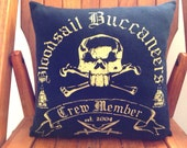 Bloodsail Buccaneers Throw Pillow