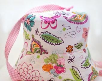 White 6-12 Month Trick Sun Hat Newborn 6 to 12 Months Sized Hat - Baby Girls White Polka Dot Botanical Floral Reversible Bucket Cap