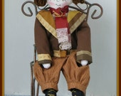 Peter -  Handmade Colonial Boy Art Doll