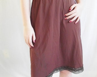 Vintage Half Slip - Small - Medium - Brown