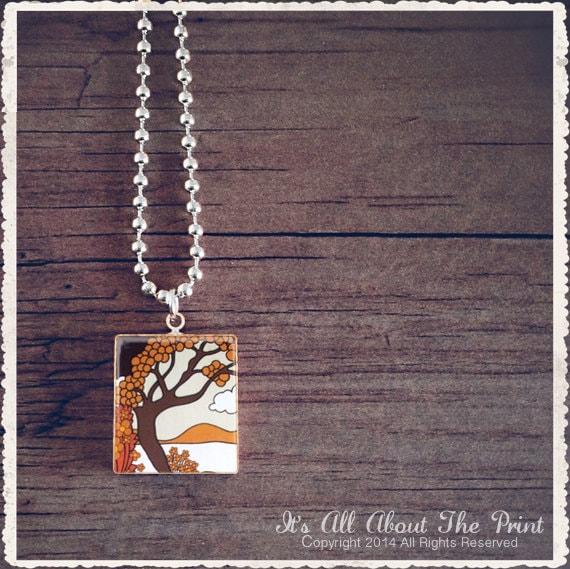 Scrabble Pendant Necklace - Secret Island - Scrabble Game Tile Jewelry - Customize - Choose Your Style