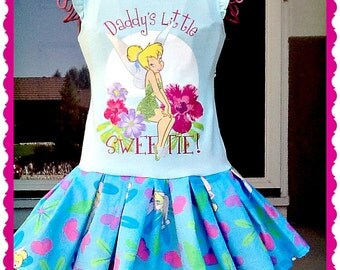girls Tinkerbell dress party dress 2T ready to ship