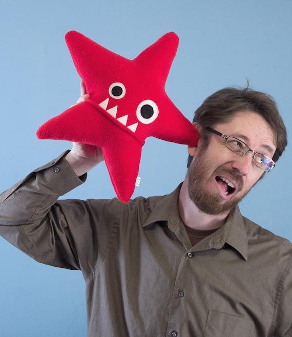 Large Starfish Fleece Plush - Red