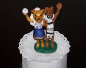 Mascots Wedding Cake Topper- Personalized & Custom Made to Order