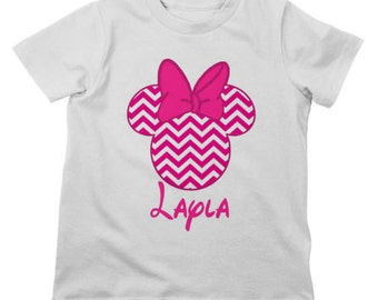 Personalized Custom Disney Minnie Mouse Toddler/Youth T Shirt