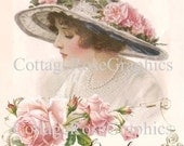 Large digital download French Dreams of Love Reve d'Amour image BUY 3 get one FREE ECS Pink Roses