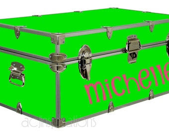 Personalized Camp Trunk Decal - Custom Name Decal -