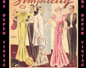Vintage Pattern Catalogs 4 Booklets Simplicity Fashion Forecast From 1936 Collection -INSTANT DOWNLOAD-