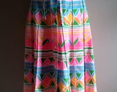 Pretty Neon and Pastel 1960's A Line Skirt