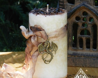 Vanilla Dragon Herbal Alchemy Candle