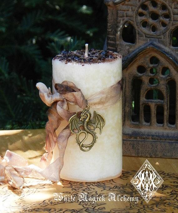 Vanilla Dragon Herbal Alchemy Magick Candles