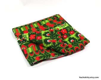 Vintage Vera Christmas Tablecloth Mid Century Textile