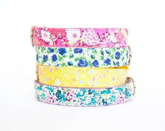 Flower Dog Collar - Liberty of London Collection II