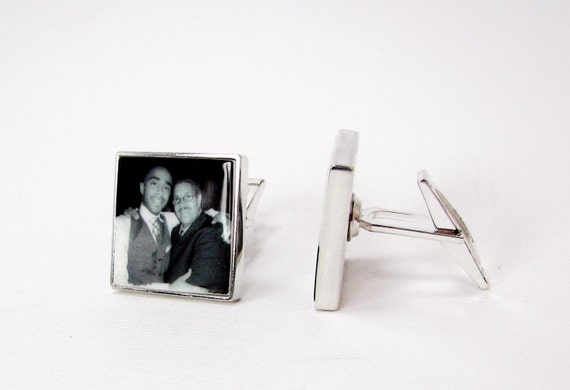Sterling Silver Photo Cuff Links - A great gift for your Groom - A12