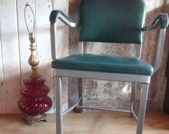 Vintage Mid Century Riteform Industrial Office Chair